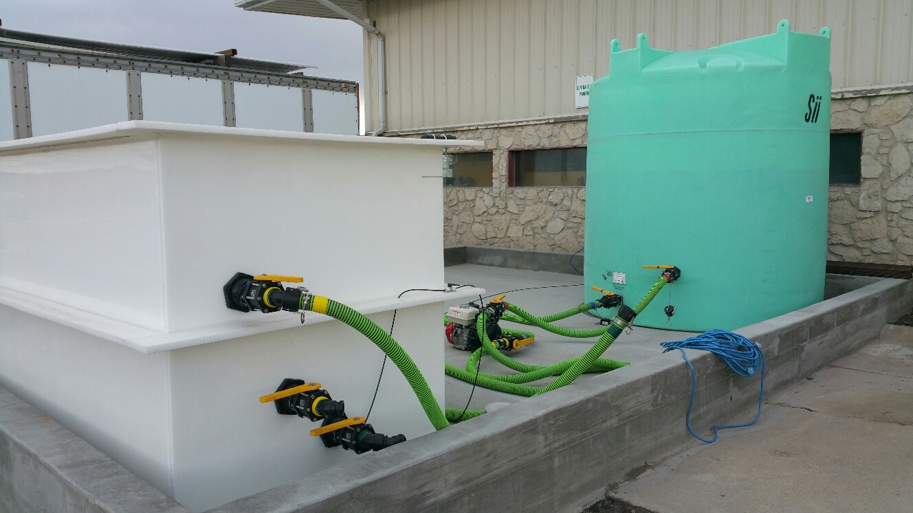 brine maker and 2500 tank with pump